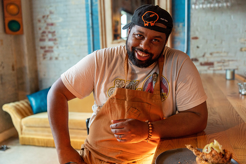 Charlotte, Nc March 12th Food And Staff Including Chef Greg Collier At Leah And Louise. Photographed In Charlotte Nc On March 12th, 2020. Photo By Peter Taylor