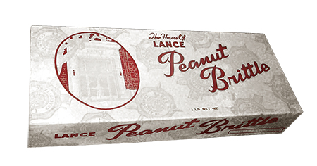 Lance Peanut Brittle Box Transparent