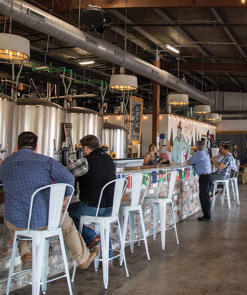 Resident Culture Brewery. With Head Brewer Chris Tropeano (head Brewer). Barrel Room Tap Room Photographed In Charlotte, Nc On 15feb18. Photographs By Peter Taylor