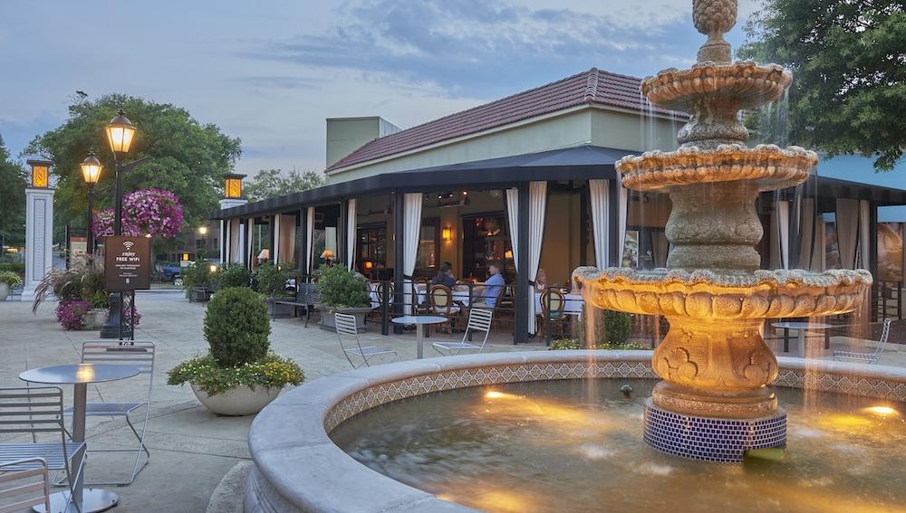 Fountain And Bricktop's Patio
