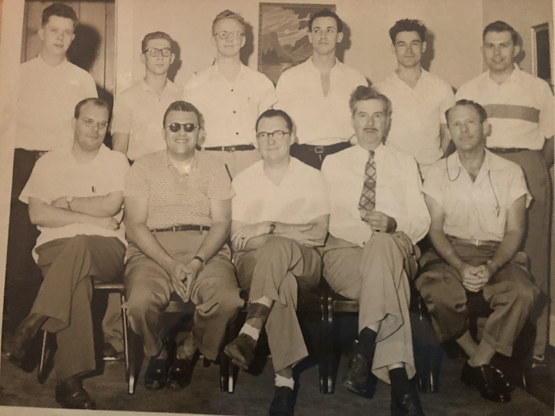 Bob Madle Center Seated And Club 1954