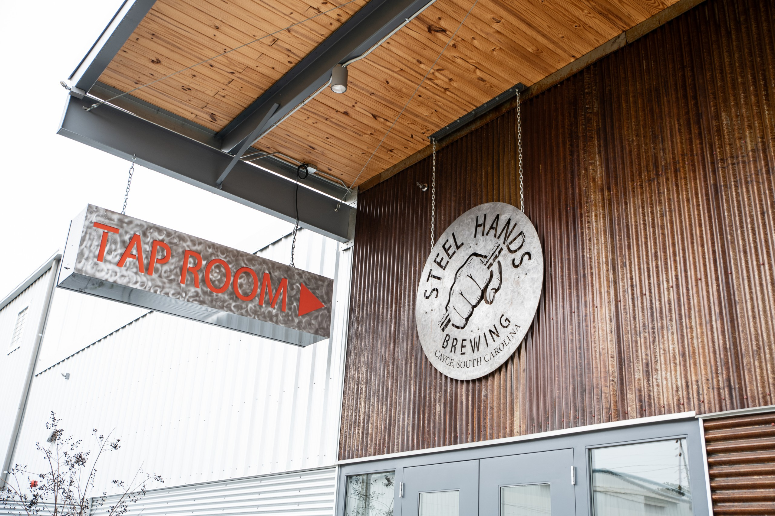 Steel Hands Brewing In Cayce South Carolina Exterior Of Steel Hands Brewing