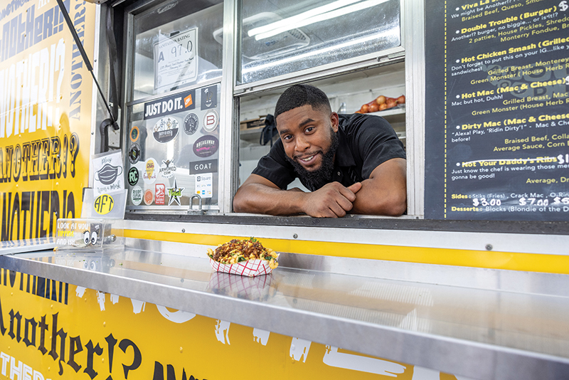 "Charlotte Nc March 9th 2021 Another Food Truck He Viva La Juicy: 3 Corn Tortillas Stuffed With Braised Beef, Queso, Smoked Jalapeño Aioli, And Sauce. The Dirty Mac, A Heap Of Mac And Cheese Topped With Braised Beef, Collard Greens, ""average Sauce,"