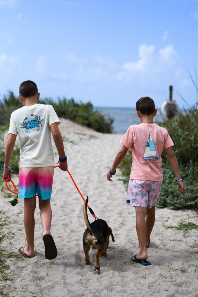 Edisto Boys With Dog Chelsea Ward